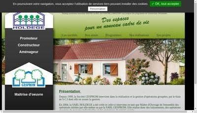 Site internet de Gesprom