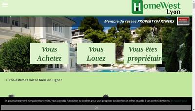 Site internet de Homewest Lyon