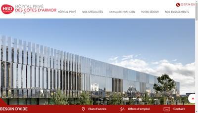 Site internet de Hopital Prive des Cotes d'Armor