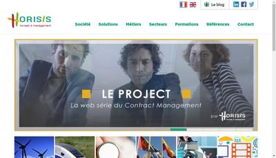 Site internet de Horisis Conseil
