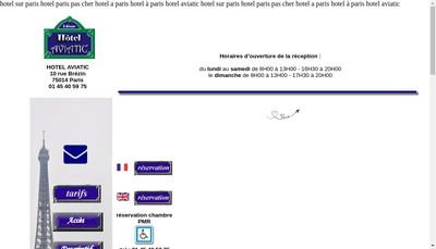 Site internet de Hotel Aviatic
