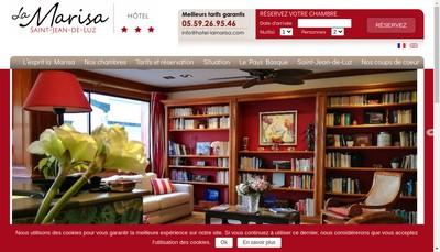 Site internet de La Marisa