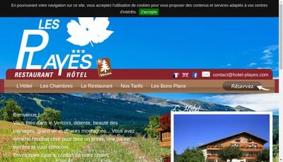 Site internet de Hotel les Playes