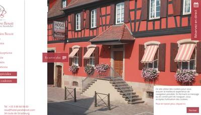 Site internet de Hotel Pere Benoit