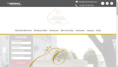 Site internet de Grand Hotel de Courtoiville