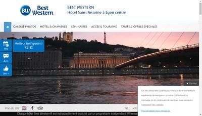 Site internet de Hotel Lyon Saint Antoine
