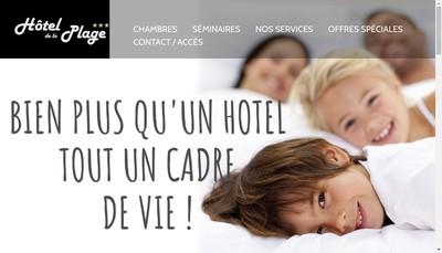 Site internet de Hotel de la Plage
