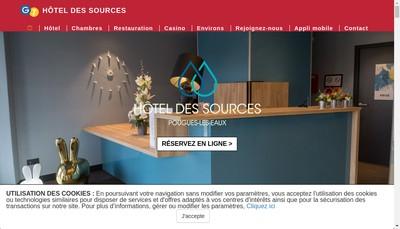 Site internet de Hotel des Sources - Pougues les Eaux