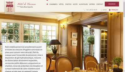 Site internet de Hotel de Varenne