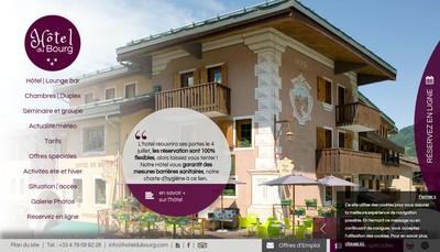 Site internet de Hotel du Bourg