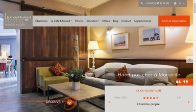 Site internet de Hotel Edmond Rostand