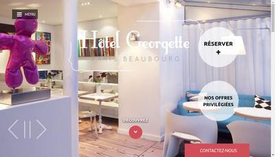 Site internet de Hotel Georgette