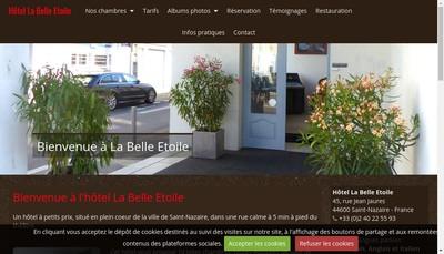 Site internet de Hôtel La Belle Etoile