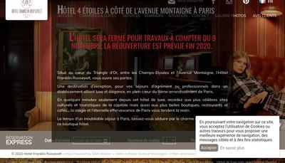 Site internet de Societe Hotel Franklin Roosevelt88
