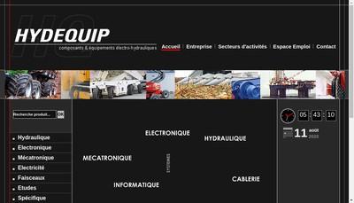 Site internet de SA Hydequip