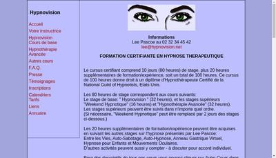 Site internet de Hypnovision