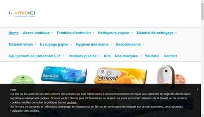 Site internet de Hypronet