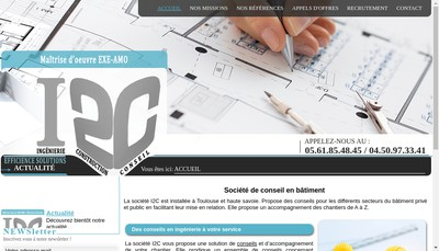 Site internet de I2C Solutions
