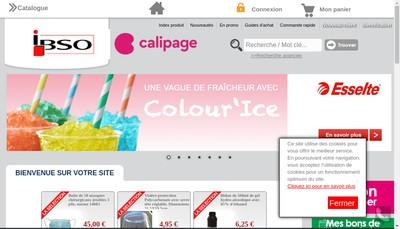 Site internet de Ibso Calipage