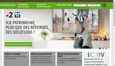 Site internet de Ica Patrimoine