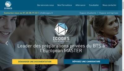 Site internet de Icoges