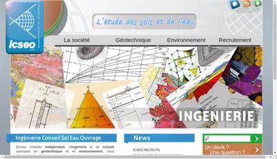 Site internet de Icseo Bureau d'Etudes