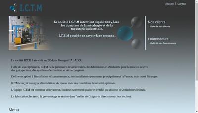 Site internet de Ictm Instal Cryogenie Tuyau Maintenance