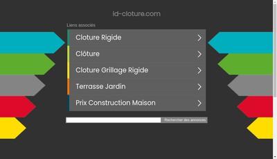 Site internet de Id Cloture
