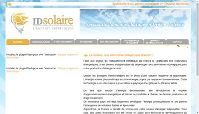 Site internet de Id Solaire