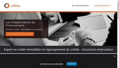 Site internet de Idfin