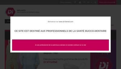 Site internet de Implants Diffusion International