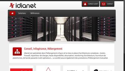 Site internet de Idianet