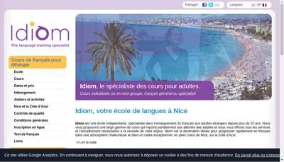 Site internet de Idiom 06