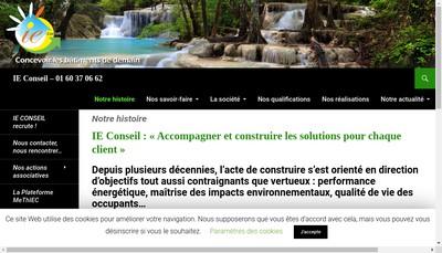 Site internet de Ie Conseil