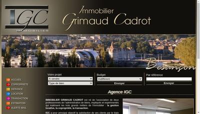 Site internet de Immobilier Grimaud Cadrot