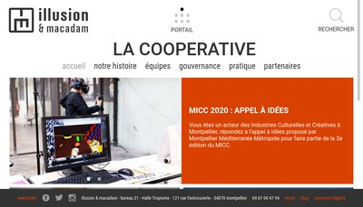 Site internet de Illusion & Macadam