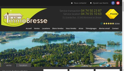Site internet de Immobresse