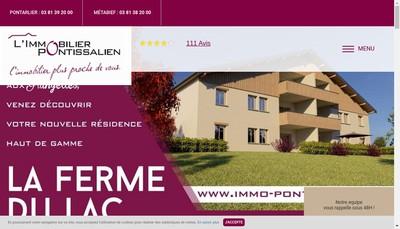 Site internet de L'Immobilier Pontissalien