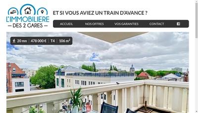 Site internet de L'Immobiliere des 2 Gares
