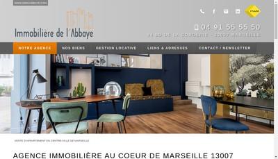 Site internet de Immobiliere de l'Abbaye