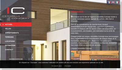 Site internet de Immobilia Concept