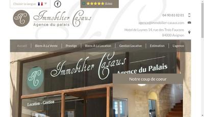 Site internet de Immobilier Casaus Agence du Palais