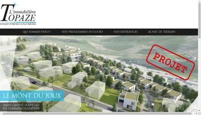 Site internet de L'Immobiliere Topaze
