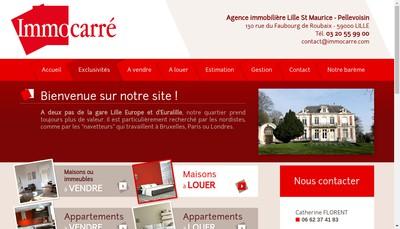 Site internet de Immocarre