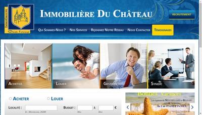 Site internet de Immobiliere du Chateau
