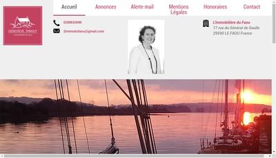 Site internet de Genevieve Tanguy - l'Immobiliere du Faou