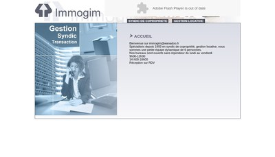 Site internet de Immogim