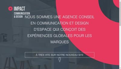 Site internet de Impact Communication