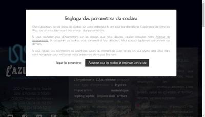 Site internet de Imprimerie l'Azureenne