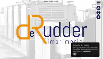 Site internet de Imprimerie de Rudder